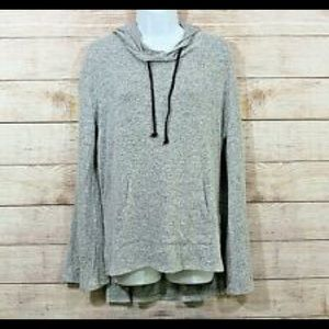Mossimo Gray Hooded Sweater Large